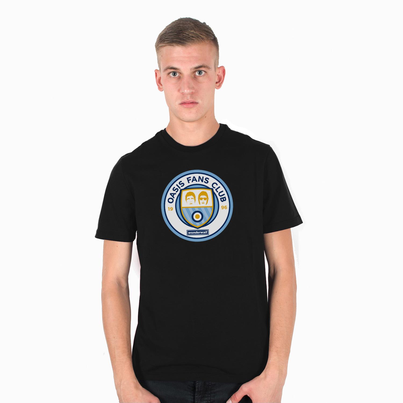 T-Shirt Three Stroke Oasis Fans Club logo [Black]