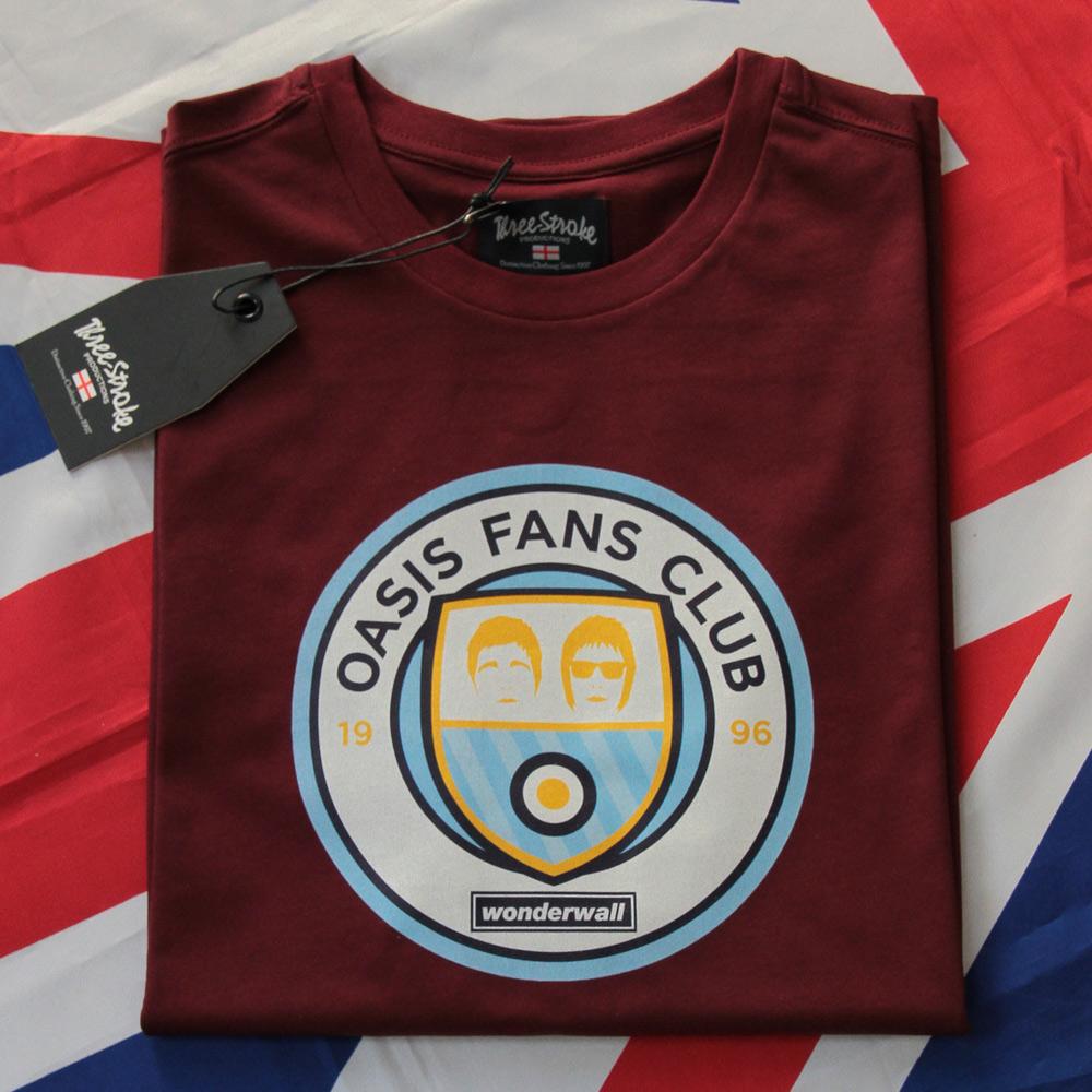 T-Shirt Three Stroke Oasis Fans Club logo [Burgundy]